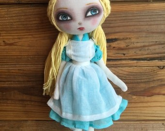 "alice in wonderland art doll ooak pose doll 15"""