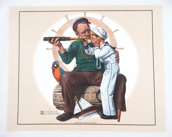 Vintage Norman Rockwell Setting One's Sites Print