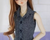 SAYOKO outfit for Volks 16SD Girl Doll BJD - Black Dot sleeveless shirt (No.A533)
