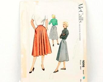 1950s McCall's 9098 // full skirt