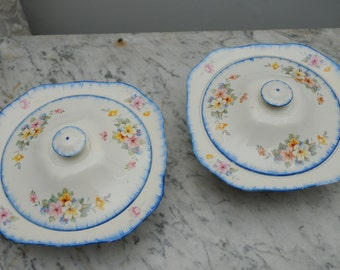 Pair of Alfred Meakin Floral Tureens