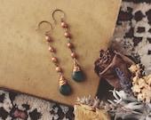 Feminine Earthy Teardrop Dangle Earrings