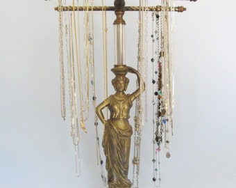 RESERVED -Hollywood Regency Goddess Necklace Holder   4-Arms    French Decor   Vanity Accessory   Shop Display   Gifts for Her