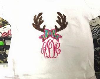 Deer Antler Monogram shirt