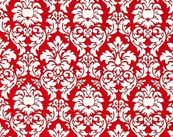 Red Petite Dandy Damask From Michael Miller