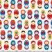 Mini Country Matryoshka Dolls from Robert Kaufman's Suzy's Mini by Suzy Ultman
