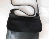 Rolfs - Vintage Black Leather Cross Body Bag