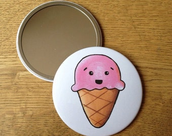 Kawaii Ice Cream Hand Mirror