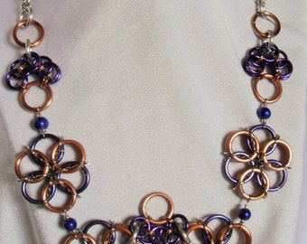 Guinevere Chain Maille Necklace  N-077