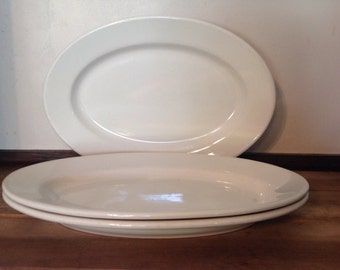 "Vintage Bufalo China Restaurant Ware Diner Ware Platter--Large 15 1/2"""
