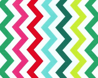 Fat Quarter Christmas Fabric for quilt or craft Michael Miller Shi Shi Chevron in Hollyberry Fat Quarter