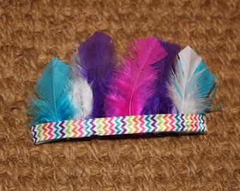 Bright featheres headband