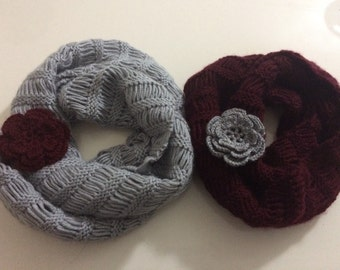 Mommy and Me Scarf Set, Mother Daughter Scarf Set