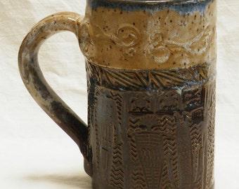 ceramic shaman coffee mug 16oz  stoneware 16A063