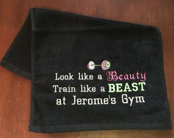 Gym towels, golf towel, Personalized, workout towel, sweat towel, exercise towel, sport towel, exercise gift,