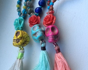 Day of the Dead Mala necklace