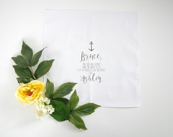 BROTHER of the Bride or Groom  printed handkerchief with your choice of graphic straight edge handkerchief