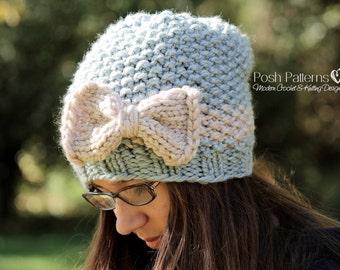 Knitting PATTERN - Hat Knitting Patterns - Knit Hat Pattern - Slouchy Hat Knitting Pattern - Easy Knitting Pattern - Beanie - PDF 164