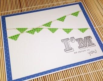 Encouragement card, Friendship Card, Congratulations, Congrats, Congratulations Card, Congrats Card, Bunting, Handmade Card, Twine
