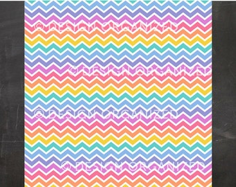 Chevron Rainbow Colors Background with Fashion Consultant Retailor Clothing Boutique Colors
