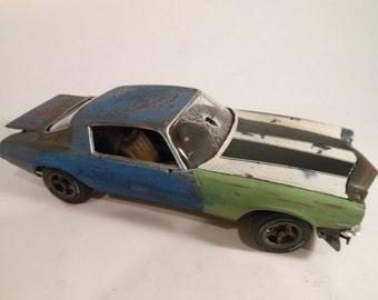 Rusted Scale Model Camaro Car in Blue from Classicwrecks