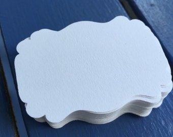 60 Small Labels/Tags - non adhesive (White)