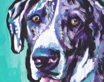 "Great Dane art print of pop art dog painting bright colors 13x19"" LEA"