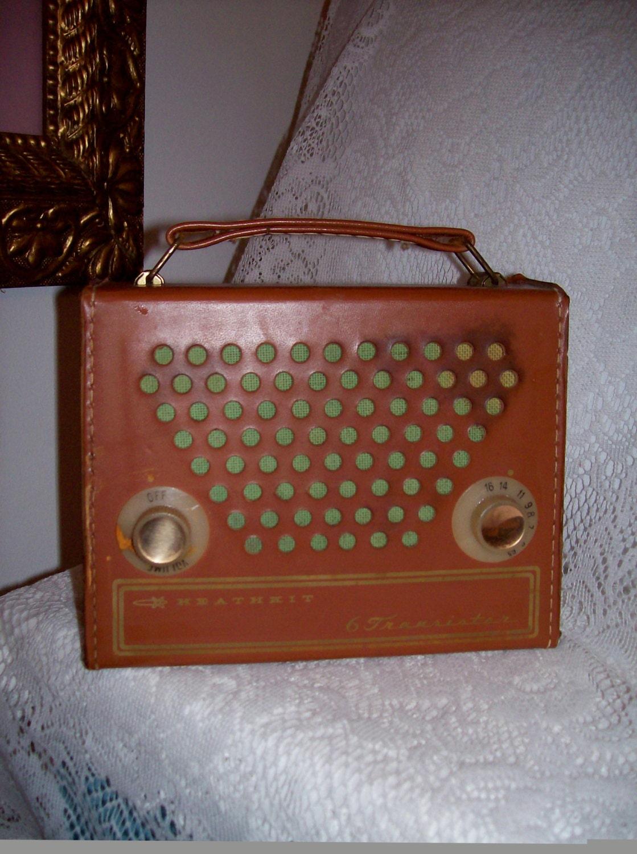 Vintage 1960s Heathkit Portable 6 Transistor Radio Only 19 Usd
