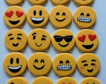 Hand Decorated Emoji Sugar Cookies (#2452)