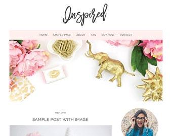 Premade Blogger Template | Inspired