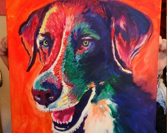 Custom Abstract dog portrait