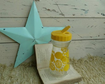 Retro Juice Lemon Pitcher - Mid Century Water or Tea Pourer, Vintage Kitchen Container, Lemonade + Drink Server, Breakfast Juice Pitcher