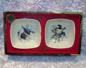 Vintage Lenox Bird Dipping Bowls Original Box Mint Condition