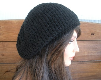 Womens Hat Crochet Hat Winter Fashion Accessories Women Beanie Hat Slouchy Winter Hat in Black - Choose color