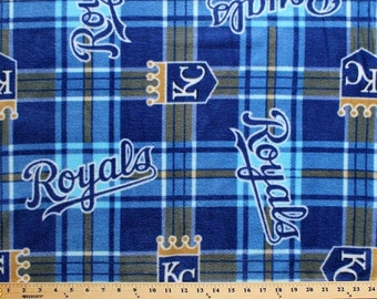 MLB KC Royals Fleece Fabric by the yard