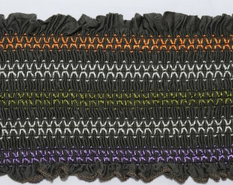 Ruched Trimming with Multi Color details