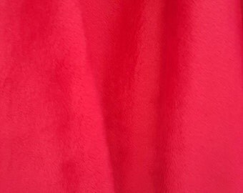 Minky Fabric By The Yard -  Red