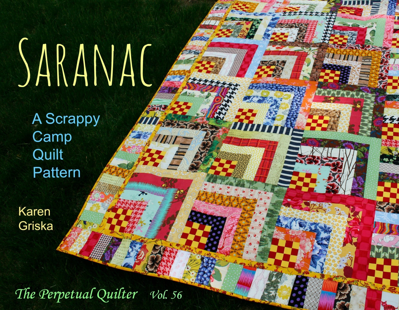 Saranac quilt pattern scrap quilt pattern twin quilt for Scrap quilt