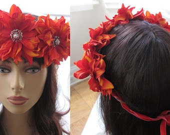 Dahlia Flower Crown - 13 Colors!