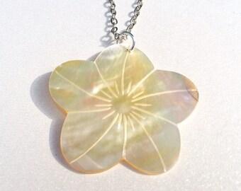 Flower Shell Necklace Beach Jewelry Stocking Stuffer Christmas Gifts