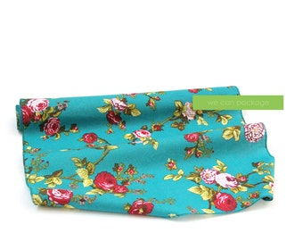 "Teal Vintage Floral Table Runner by We Can Package - 18"" x 108"""