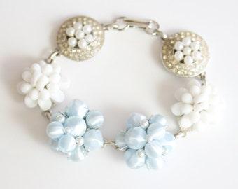 Wedding Bracelet, Made with Vintage Jewelry, Vintage Wedding Jewelry, Vintage Bracelet, Vintage Charm Bracelet, Bridal Jewelry, Bridesmaids