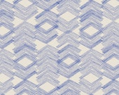 KNIT - Jersey - Cotton - Limestone Feel Indigo in Knit - Art Gallery Fabrics - Leah Duncan Morning Walk Collection - Blue - Geometric
