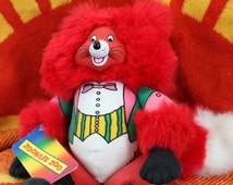 Rare Vintage 80s Zoobilee Zoo Brave Fox Plush Hand Puppet - Deadstock with Original Hang Tag