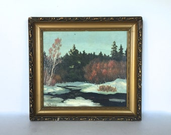 Antique painting signed by the artist
