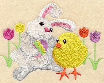Easter Bunny and Chick Buddy - Fabric - Towels - Totes