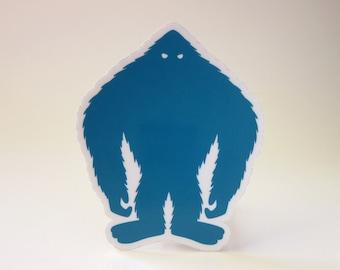 Yeti Silhouette Die-Cut Sticker