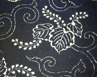 Antique Japanese cotton indigo dyed katazome fabric