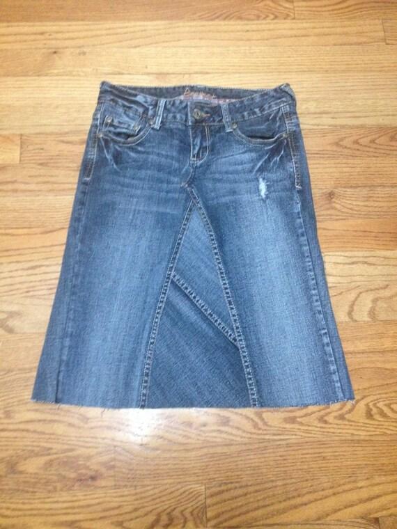 junior size 0 jean skirt knee length amethyst denim skirt