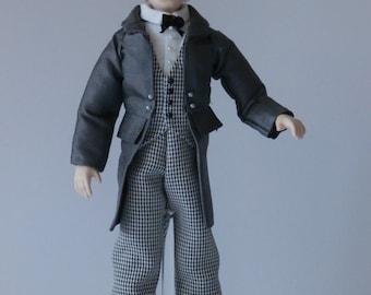 Dollshouse Miniature Doll WATSON - OOAK Handcrafted 1/12 scale Male Doll